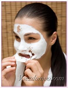 Альгинатная маска с белой глиной и хлористым кальцием