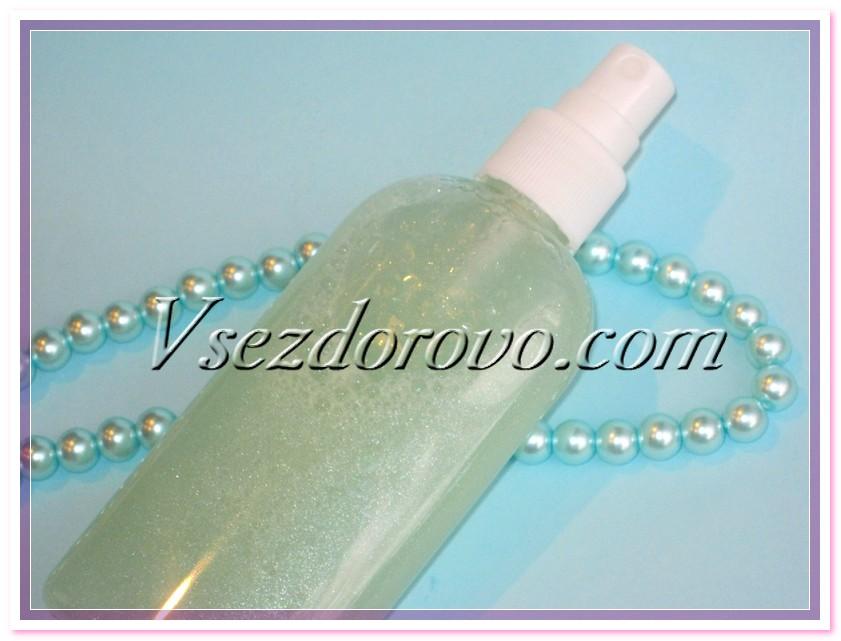 Двухфазный спрей с силиконами для блеска волос