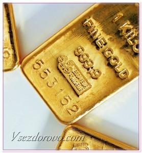 золотой слиток фото