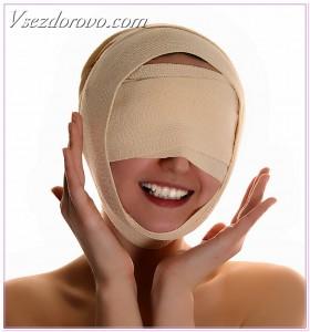 подтяжка лица с помощью повязок