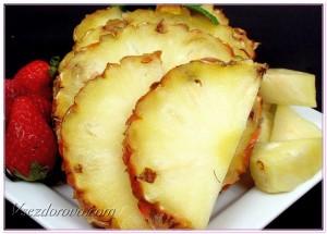 клубника с ананасом фото
