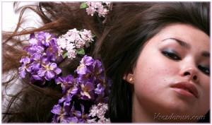 девушка с шикарными волосами фото