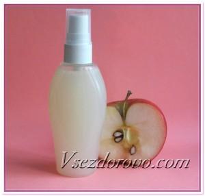 Натуральный ополаскиватель с яблочным уксусом для блеска темных волос