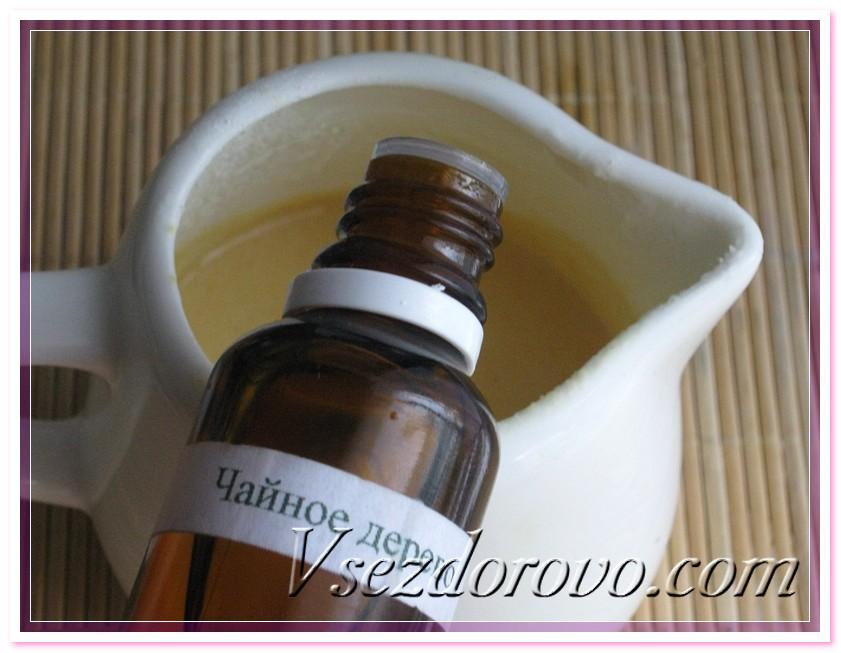 добавляем эфирное масло чайного дерева