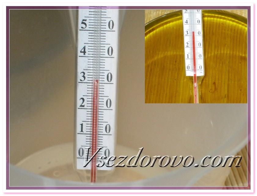 Проверяем температуру масел и щелочного раствора