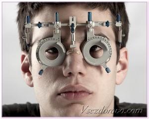 мужчина на приеме офтальмолога