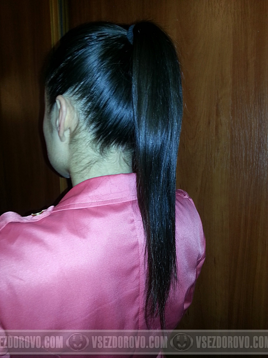 Свой хвост (родные волосы)