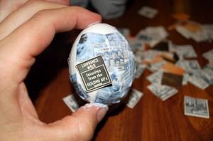 Декупаж пасхального яйца, фото