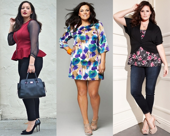 Мода для полных женщин девушек весна
