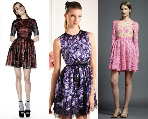 Стиль коротких выпускных платьев 2013