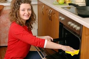 Как быстро отмыть духовку от жира?
