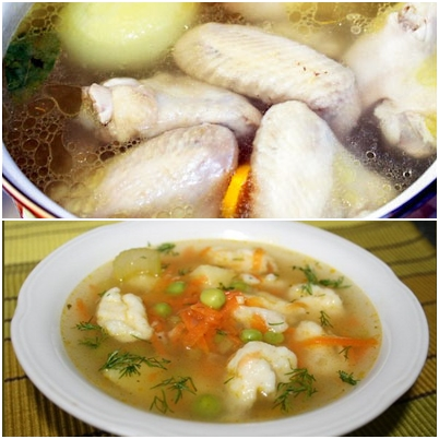 Суп с галушками — рецепт с фото