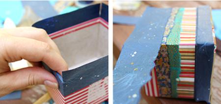 Декупаж картонной коробки своими руками