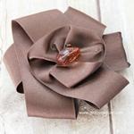 Изготовление цветов из атласных лент