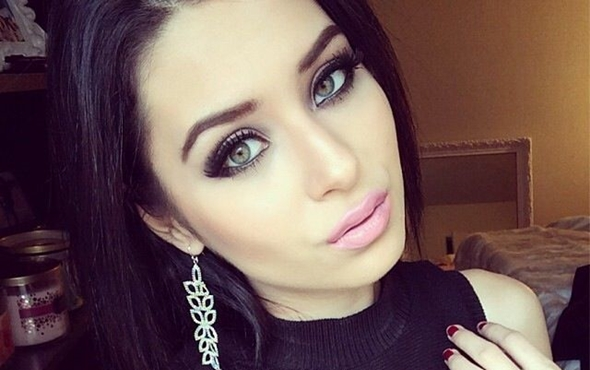 Красивый дневной макияж для зеленых глаз