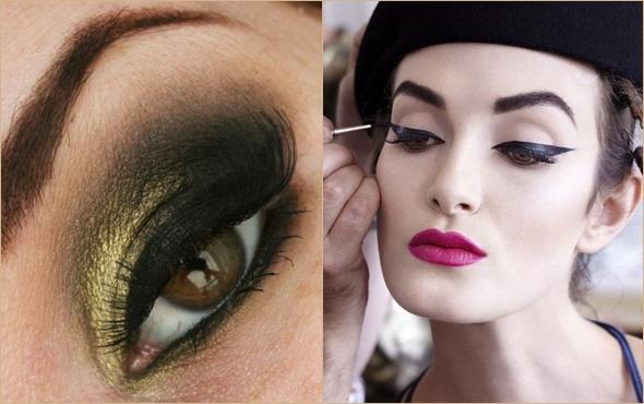 Макияж для каре-зеленых глаз