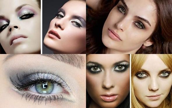 Макияж для серо-зелёных глаз