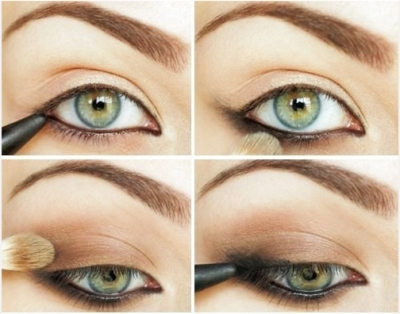 Eye makeup for small green eyes