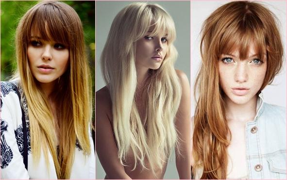 Задорная девчонка: модные челки 2014 для длинных волос