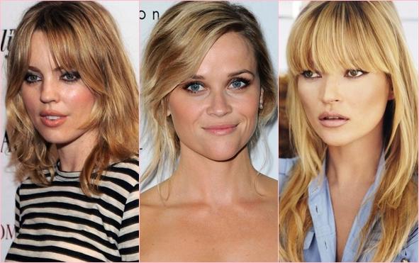 Меняем имидж: модные челки на средние волосы 2014