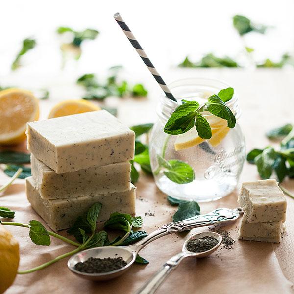Лимонное твердое мыло