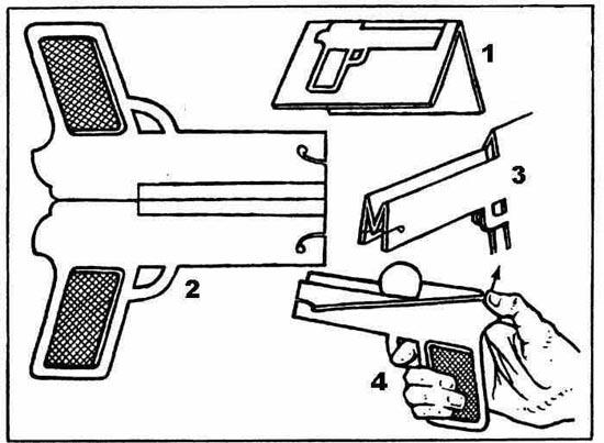 Мастер-класс: как делать из бумаги пистолет