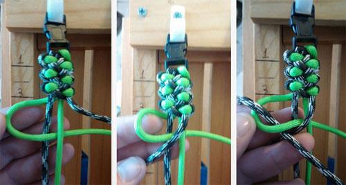 завязывать узлы, пока браслет не кончится