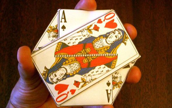 карточный бумажник-оригами