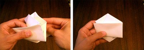 получит форму шестиугольника с двумя кармашками