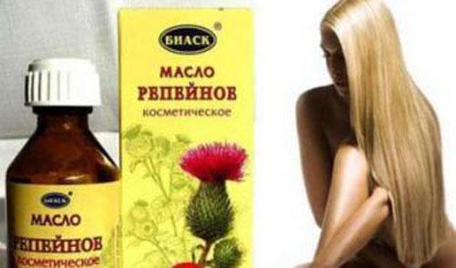 Маски с репейным маслом для ускорения роста волос