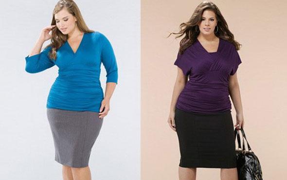 Модные юбки для полных, осень-зима 2015-2016