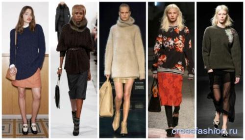 Модные сочетания в одежде сезон Осень-Зима 2015-2016 - актуальные тренды