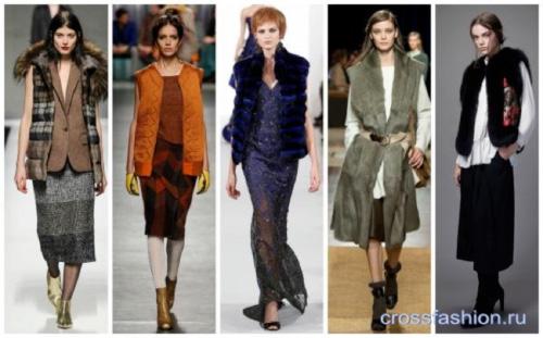 Модными стали безрукавки, которые отлично сочетаются с юбками, брюками и джинсами