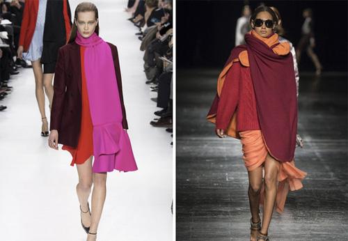 Модные женские шарфы, Осень-Зима 2015-2016, фото
