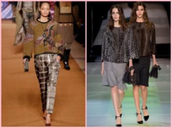 Вязаная одежда также остается в моде