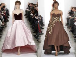 Дизайнеры в модных коллекциях делают акцент на образах героинь из сказок, представляя бальные платья с пышными юбками