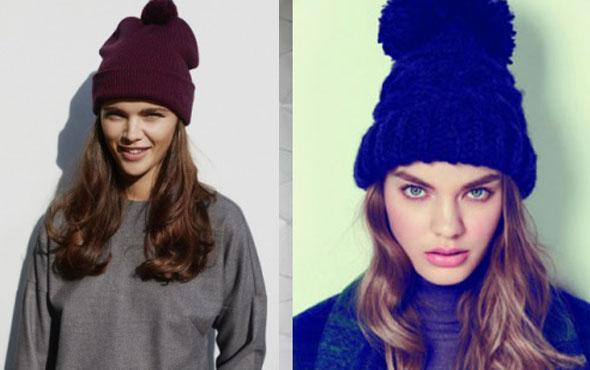 Модные вязаные шапки осень 2015