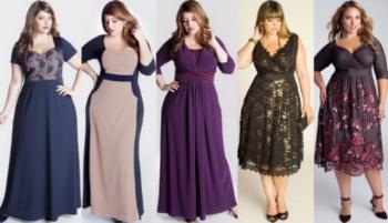 Праздничные платья для полных девушек на Новый год 2016