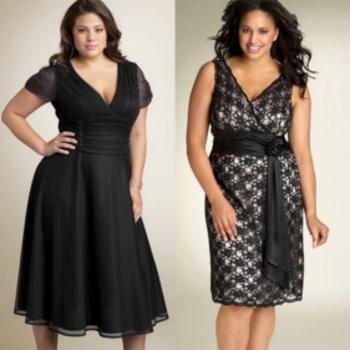 Черные платья всегда пользуются популярностью, визуально делая стройнее любую девушку.