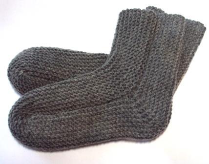 Как связать носки спицами,