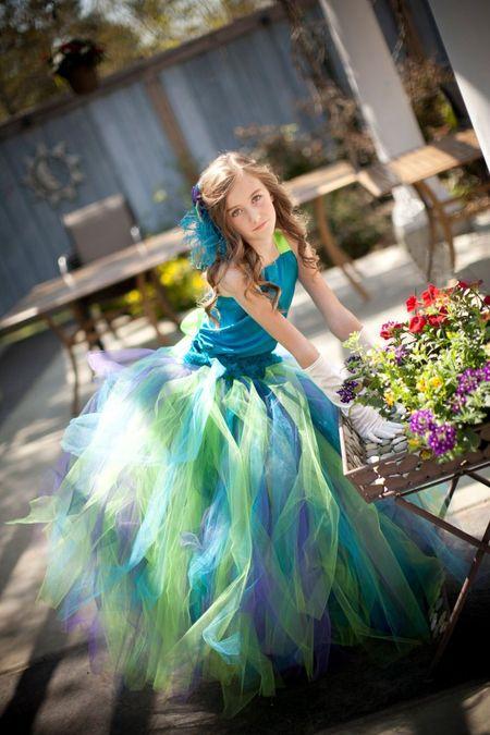 Пышное Платье С Цветами Купить В