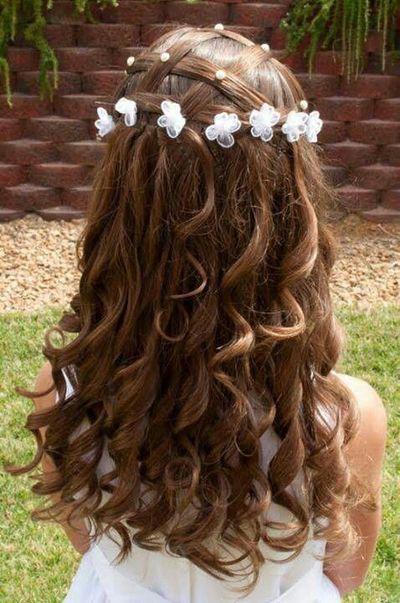 Причёски на длинные волосы для девочек на выпускной