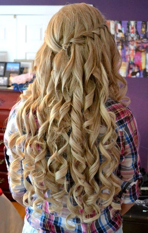 Причёски на выпускной 11 класс на длинные волосы локоны