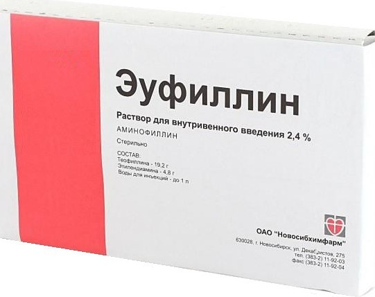Аминофиллин: инструкция и показания к применению, отзывы, цена, аналоги