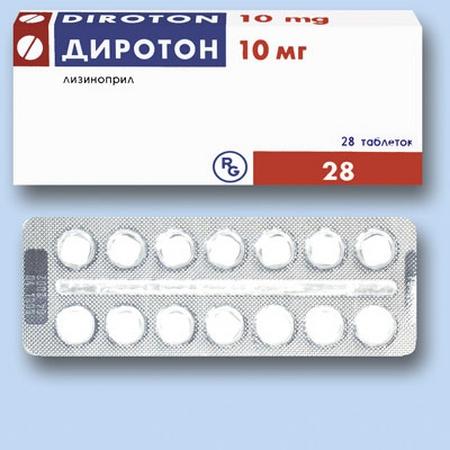 Диротон: лечебный эффект, показания и способ применения