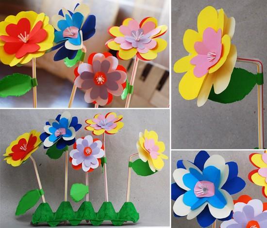 Поделки цветы к 8 марта в начальной школе доставка цветов город владимир