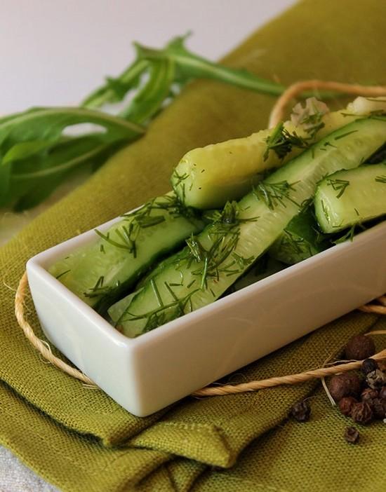Огурцы малосольные в пакете по-быстрому - кулинарный рецепт 53