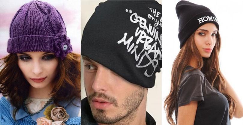 eb6c6efb8097 Модные шапки вязаные спицами женские и мужские на осень-зиму 2016 ...