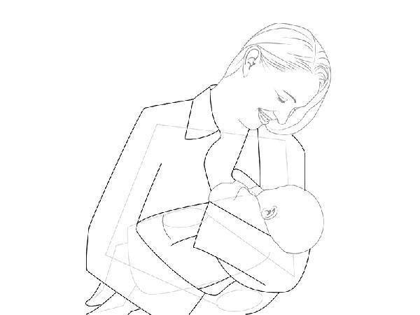 risunok-na-den-materi-45 Стенгазета на День матери своими руками с картинками и фотографиями: Шаблоны для распечатки плаката ко Дню матери в школе и детском саду