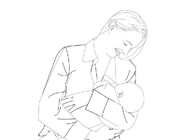 risunok-na-den-materi-46 Стенгазета на День матери своими руками с картинками и фотографиями: Шаблоны для распечатки плаката ко Дню матери в школе и детском саду